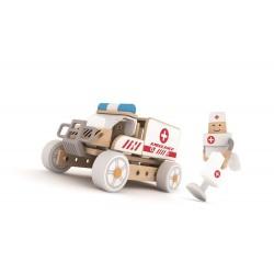 Autoskładak drewniany Ambulans