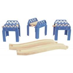 Zestaw wsporników do konstrukcji kolejkowych