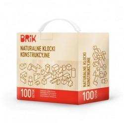 Klocki konstrukcyjne Brik 100 sztuk naturalne