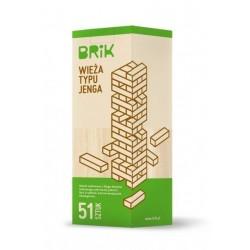 JENGA drewniana wieża 51 klocków - gra zręcznościowa
