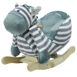 Konik na biegunach z fotelikiem - zebra Benek
