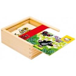 Krecik Puzzle dla najmłodszych 4x4el.