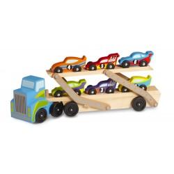 Wielka Ciężarówka z wyścigówkami