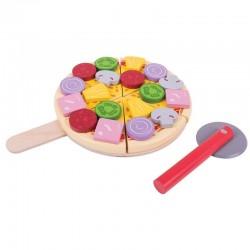 Drewniana pizza na desce