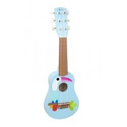 Gitara drewniana z tukanem
