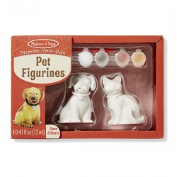 Kotek i piesek - figurki do malowania