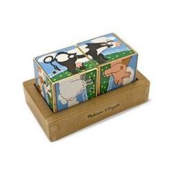 Puzzle sześcienne kostki z dźwiękiem Zwierzęta