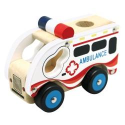 Autko drewniane - Ambulans
