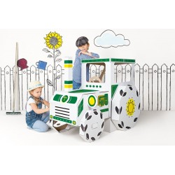 Traktor duży kartonowy