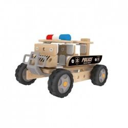 Autoskładak drewniany ciężarówka policyjna