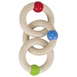 Zabawka do rączki - pierścienie dotykowe