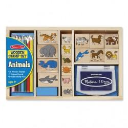Stempelki drewniane Animals od Melissy