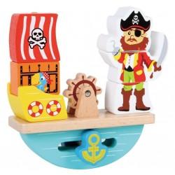 Układanka edukacyjna balansujący pirat