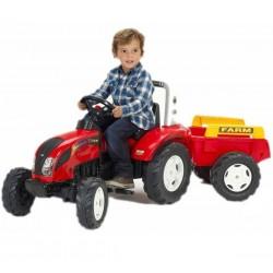 FALK Traktor RANCH Trac Czerwony z Przyczepą