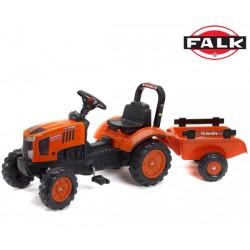 FALK Traktor KUBOTA M7171 z Przyczepą