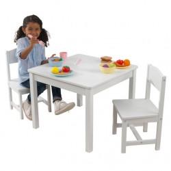 KIDKRAFT Aspen Table & 2 Chair Kolor Biały