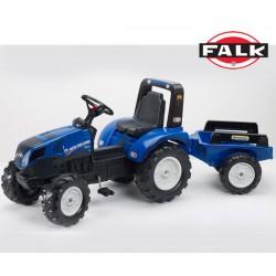 FALK Traktor NEW HOLLAND z Przyczepą