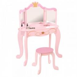 KIDKRAFT Drewniana Toaletka Księżniczki z siedz.