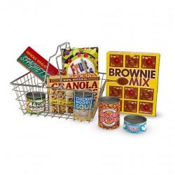 Koszyk z zakupami do zabawy w sklep