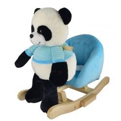 Panda na biegunach z niebieskim fotelikiem - nowa konstrukcja
