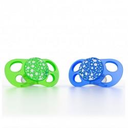 Twistshake - Smoczki uspokajające Mini 0m+, zielony/niebieski, 2 szt.