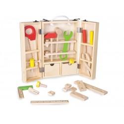 Drewniana skrzynka z narzędziami