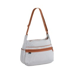 Lassig - Marv Torba z akcesoriami Urban bag Pinstripe light grey