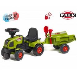 FALK Jeździk Traktor BABY CLAAS AXOS przyczepa+Ak