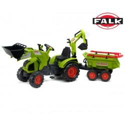 FALK Traktor CLAAS AXOS z Koparką i Wywrotką