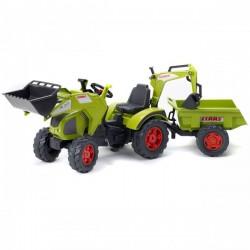 FALK Traktor Claas z Łyżką Koparką i Przyczepą Wyw
