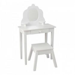 KIDKRAFT Drewniana Toaletka z Siedzeniem  Biała