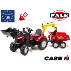 FALK Traktor CASE IH PUMA łyżka przyczepa kopar