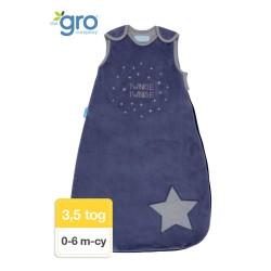 Gro Company - Śpiworek zimowy Grobag Twinkle Twinkle o grubości 3,5 tog, 0-6 miesięcy
