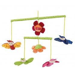 SIGIKID - Miękka karuzela nad łóżeczko z kwiatami i motylkami