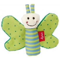 SIGIKID – Miękka mini – przytulanka Zielony motylek z szeleszczącymi skrzydełkami Red Stars