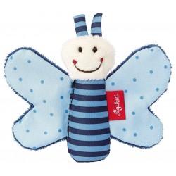 SIGIKID – Miękka mini – przytulanka Niebieski motylek z szeleszczącymi skrzydełkami Red Stars