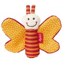 SIGIKID – Miękka mini – przytulanka Pomarańczowy motylek z szeleszczącymi skrzydełkami Red Stars