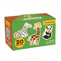 Mudpuppy - Zestaw magnesów Zwierzęta z zoo 20 elementów