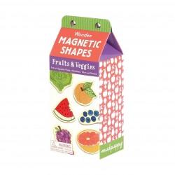 Mudpuppy - Zestaw drewnianych magnesów Owoce i warzywa 35 elementów