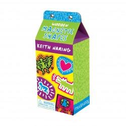 Mudpuppy – Zestaw drewnianych magnesów Keith Haring 35 elementów