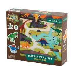Mudpuppy – Puzzle zestaw z 8 figurkami Dinozaury 3+