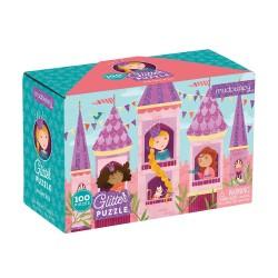 Mudpuppy - Puzzle z brokatem Księżniczka 100 elementów 5+