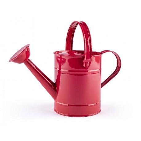 Zabawka do ogrodu - metalowa konewka czerwona