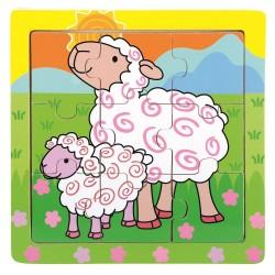 Puzzle dla dziecka Farmino owieczki