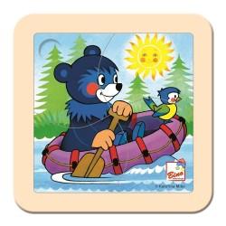 Puzzle dla malucha Baribal na pontonie
