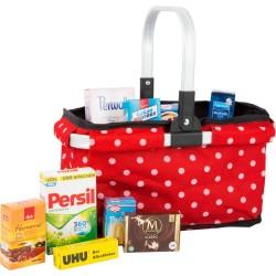 Koszyk na zakupy z markowymi produktami