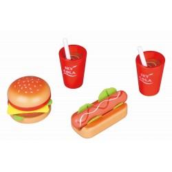 Lunch dla dwojga - hotdog i hamburger