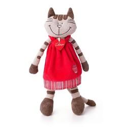 Pluszowa kotka Andżela w czerwonej sukni