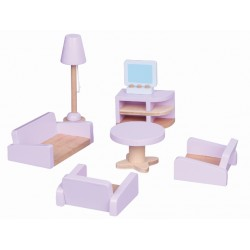 Mebelki do salonu - wyposażenie domków dla lalek