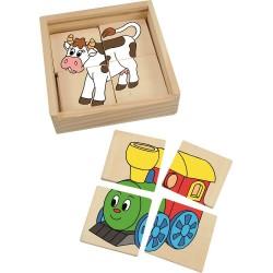 Mini puzzle 4 szt.